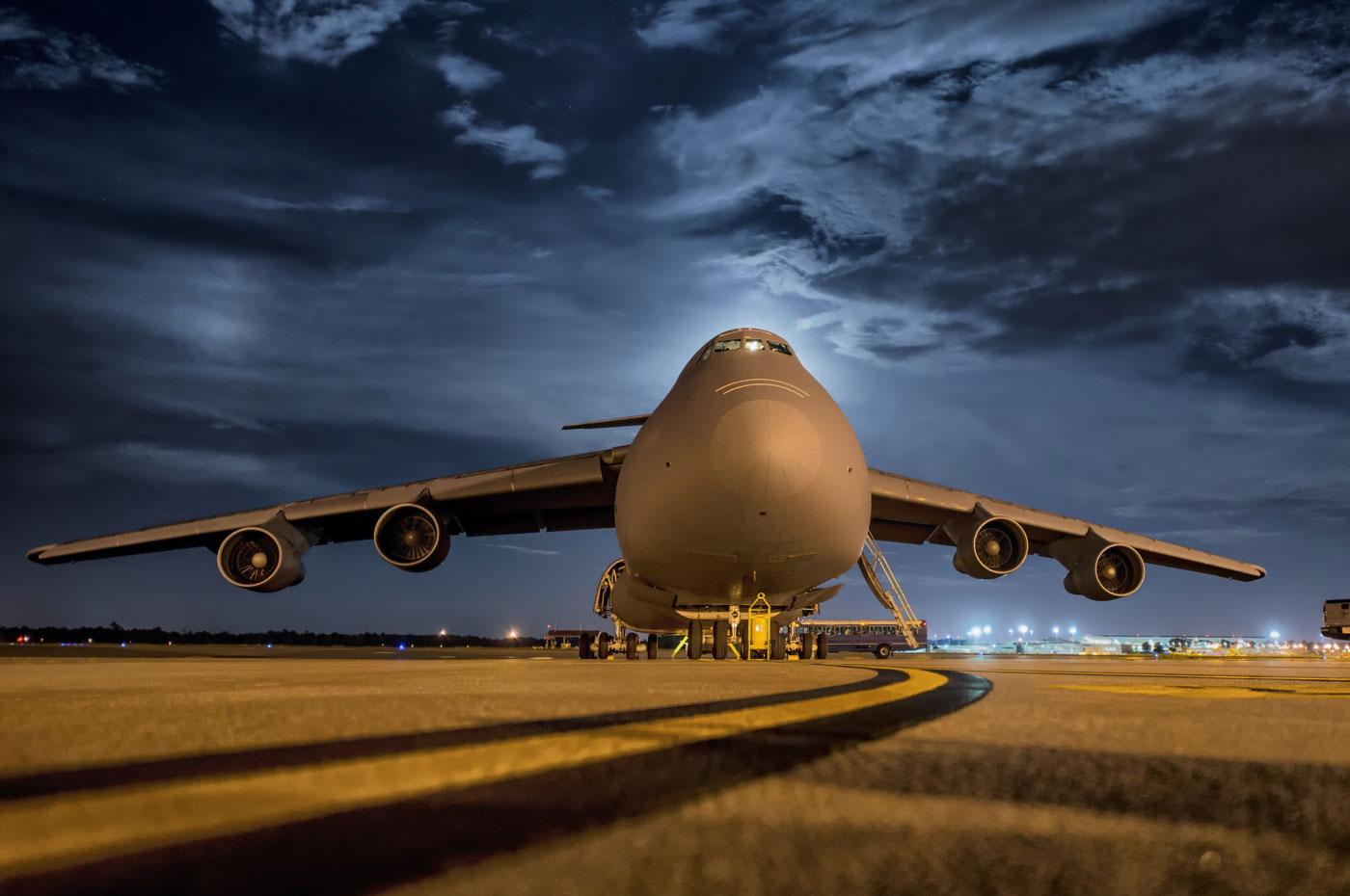 Aile d'avion en plein vol